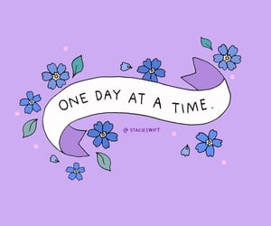 flowers, positive, and purple image