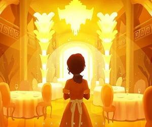 tiana, disney, and restaurant image