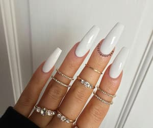 nails, rings, and chic image