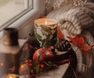 autumn, candles, and cozy image