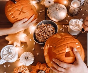 aesthetic, autumn, and carving image