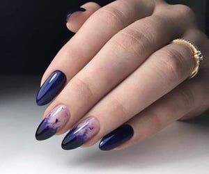 appearance, blue, and nailstyle image