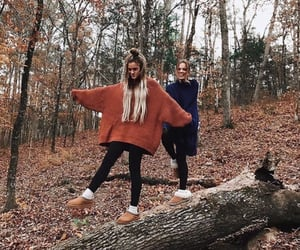 autumn, best friends, and fall image