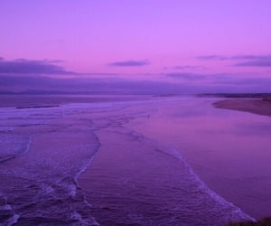 purple, beach, and sky image
