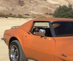 car, aesthetic, and orange image