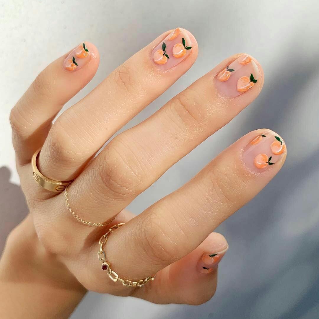 article, nail design, and fall image