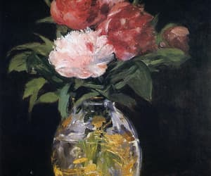 art, bouquet, and manet image