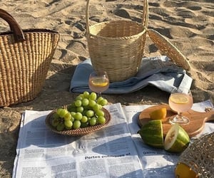 beach, delicious, and fruit image