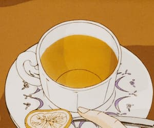 gif, tea, and anime scenery image