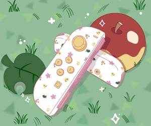 Animal Crossing joycons 🍃🍎