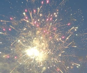 colours, fireworks, and party image