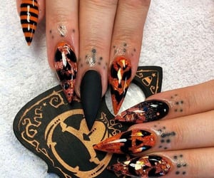 Halloween, black, and nails image