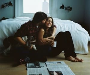 bedroom, couple, and love image