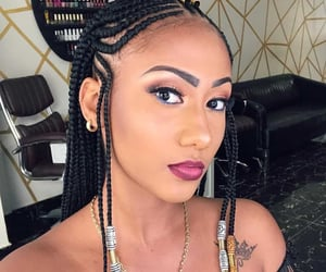 braids, protective styles, and makeup image