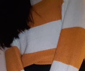 black, fashion, and knit sweater image