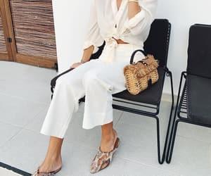 blouse, denim, and fashion image