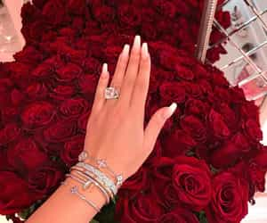 nails, roses, and luxury image
