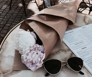 flowers, sunglasses, and rose image