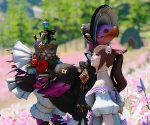 mmorpg, cat girl, and ffxiv image