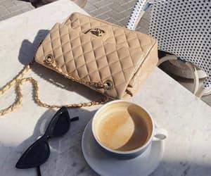 chanel, chanel bag, and coffee image