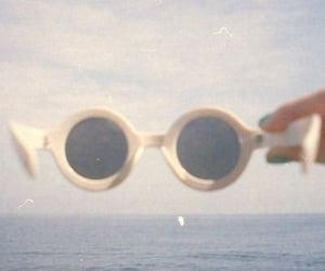 vintage, sunglasses, and beach image