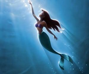 disney, ariel, and little mermaid image