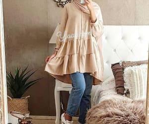 blouse, hijab, and summer image