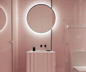 bathroom, home decor, and pink image