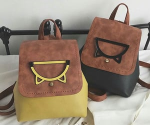 backpack, bags, and brown image