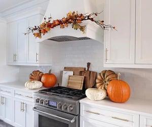 autumn, dream kitchen, and pumpkins image