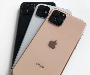 gold, iphone, and smartphone image