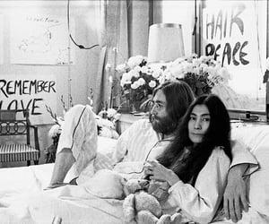 peace, love, and john lennon image