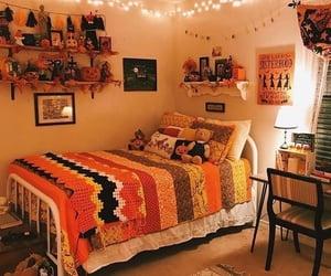Halloween, orange, and room image