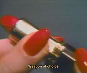 aesthetic, lipstick, and red image