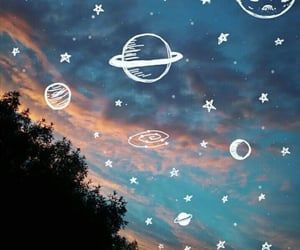 sky, planets, and space image