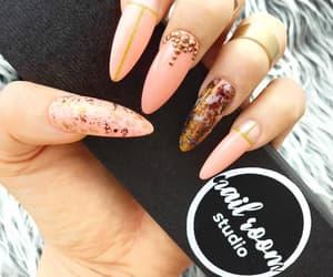 long nails, designer nails, and clear nails image