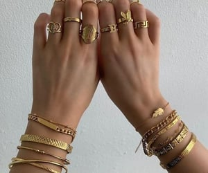 beauty, bracelet, and rings image