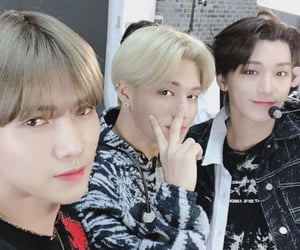 san, wooyoung, and ateez image