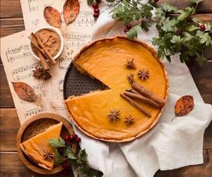 autumn, cake, and music image