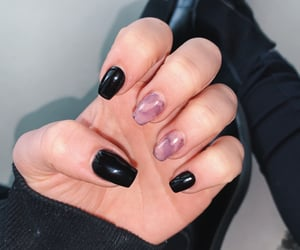beauty, nails, and black marble image