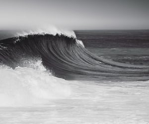 waves, black, and black and white image