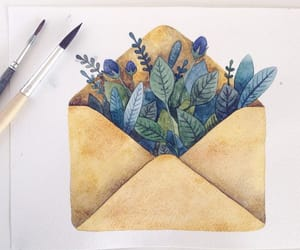 art, envelope, and illustration image