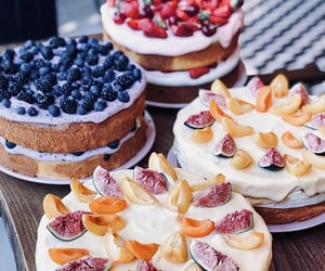aesthetic, blueberries, and cakes image