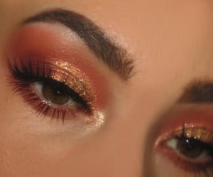 brown eyes, brows, and close up image