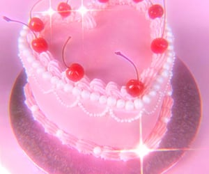 cherry, aesthetic, and cake image