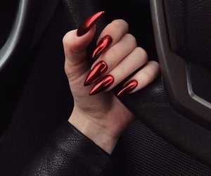 nails, red, and girly image