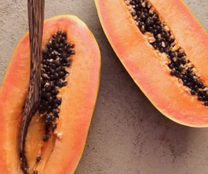 fruit, food, and papaya image