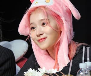 kpop, pink hair, and twice image