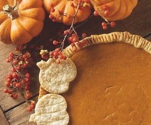 autumn, pie, and pumpkin image