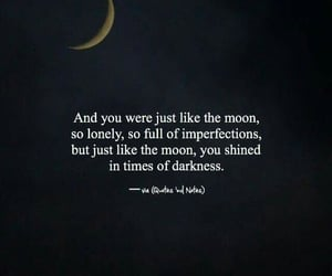 quotes and moon image